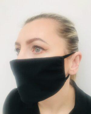 Maseczka BE (bawełna + elastan) z kieszonką na filtr – 10 sztuk