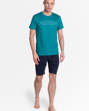 Piżama Deal 38880-77X Zielono-Granatowa