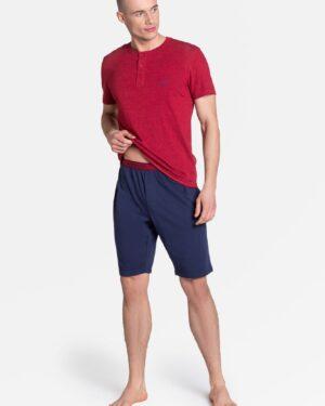 Piżama Dune 38879-33X Czerwono-Granatowa