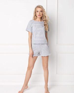 Piżama Hearty Short Grey