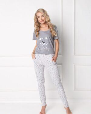 Piżama Huggy Bear Long Grey