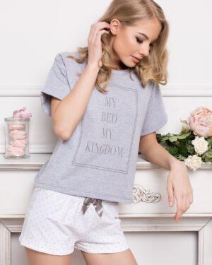 Piżama Kingdom Short Dots & Grey