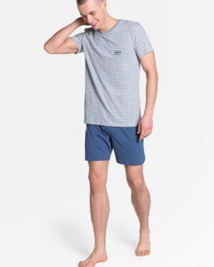 Piżama Lobe 38875-90X Szaro-Niebieska
