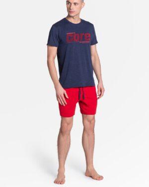 Piżama Oxford 38285-59X Granatowo-Czerwona