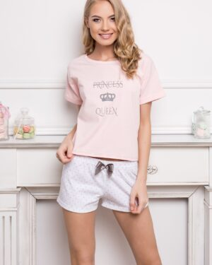 Piżama Princess Queen Short Dots & Pink