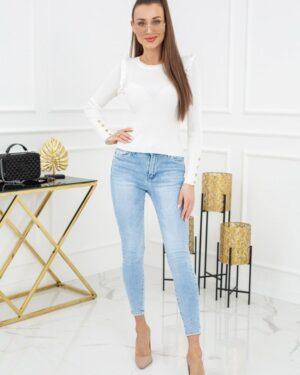Sweterek Cindy Gold Buttons MCY02693 Ecru