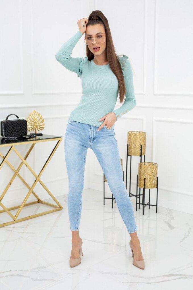 Sweterek Cindy Gold Buttons MCY02693 Mint