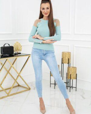 Sweterek Eliza Tulle MCY02679 Mint