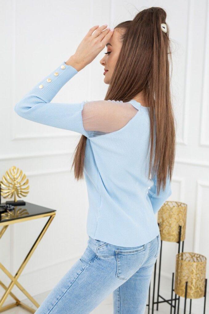 Sweterek Eliza Tulle MCY02679 Baby Blue 2