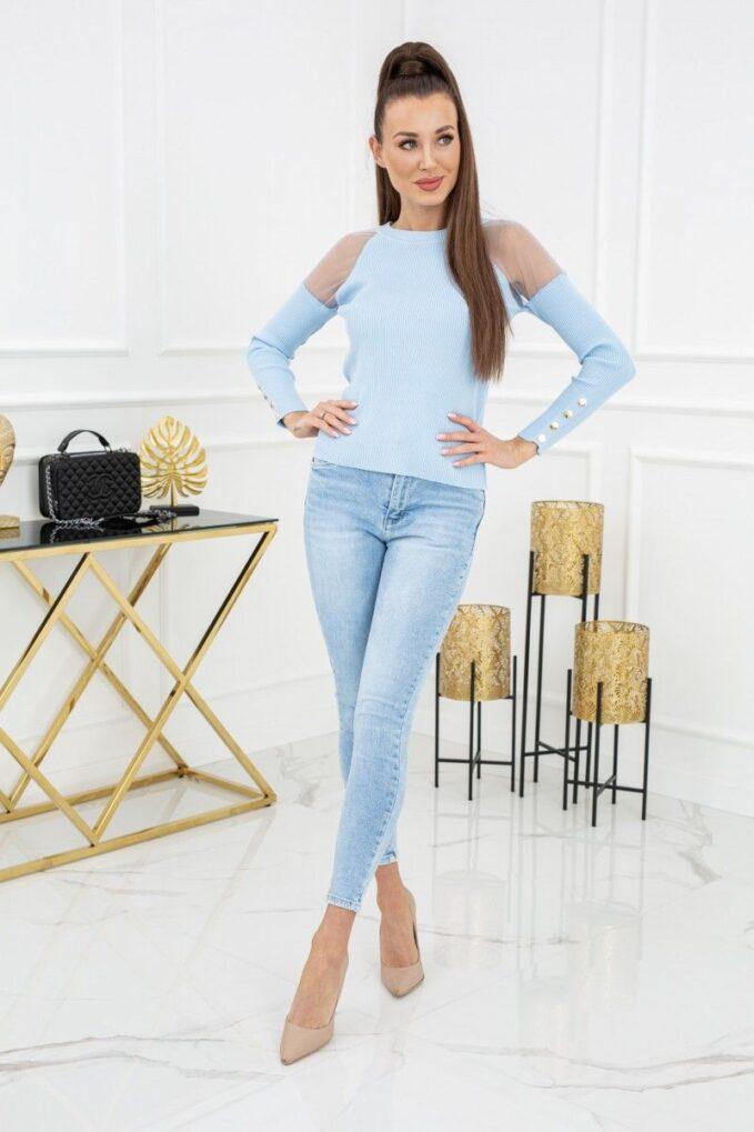 Sweterek Eliza Tulle MCY02679 Baby Blue 3