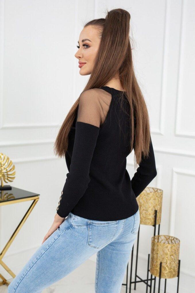 Sweterek Eliza Tulle MCY02679 Black 2