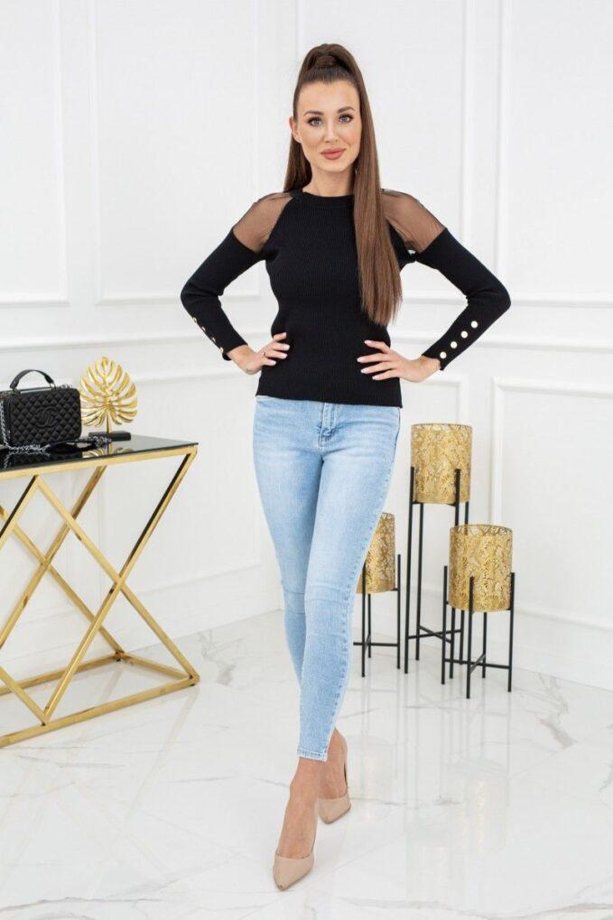 Sweterek Eliza Tulle MCY02679 Black 3