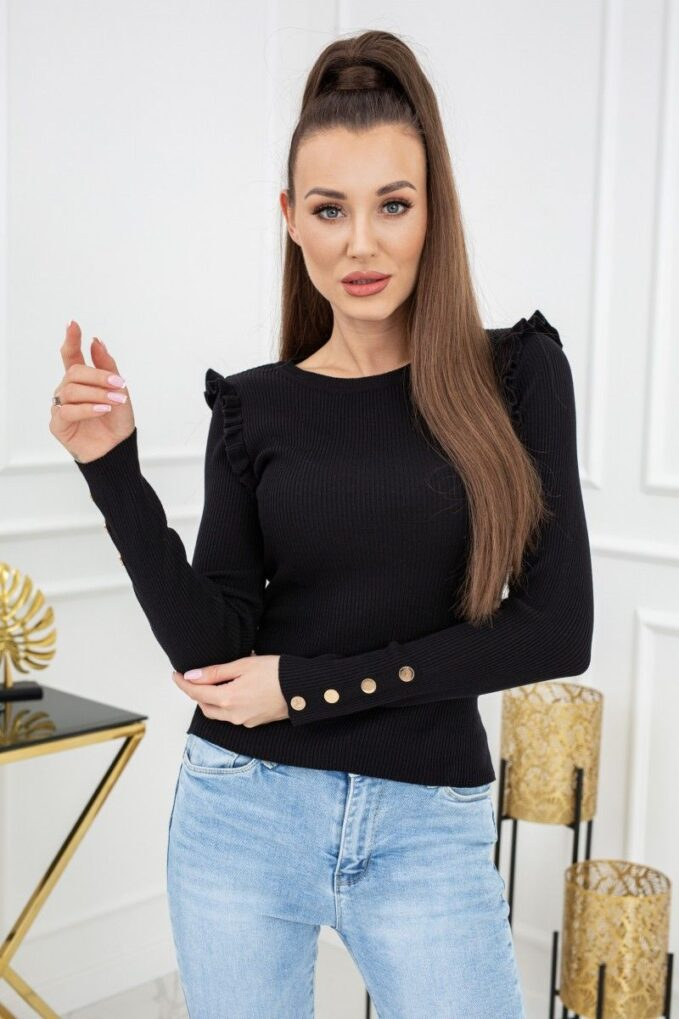 Sweterek Cindy Gold Buttons MCY02693 Black 3