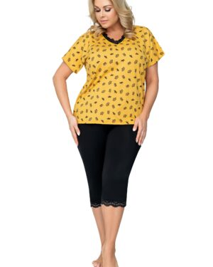 Piżama Queen 3/4 Plus Size
